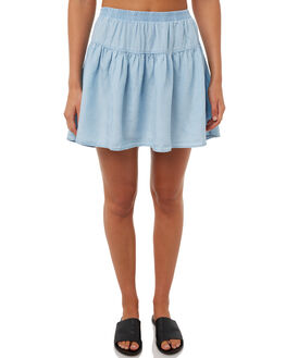 LIGHT BLUE WOMENS CLOTHING ALL ABOUT EVE SKIRTS - 6403063LBBLU