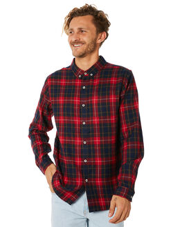 RED MENS CLOTHING STUSSY SHIRTS - ST087404RED