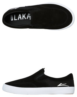 BLACK SUEDE KIDS BOYS LAKAI SNEAKERS - KS1190232A00BLKS
