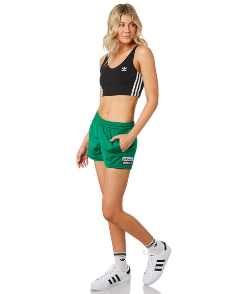 BOLD GREEN WOMENS CLOTHING ADIDAS SHORTS - EC0781BGRN