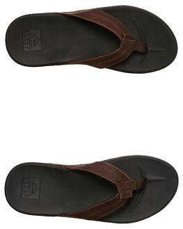 BLACK BROWN MENS FOOTWEAR REEF THONGS - A3FEZBKB