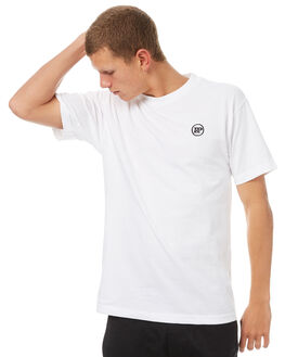 WHITE MENS CLOTHING PASS PORT TEES - PPWORKSWHT
