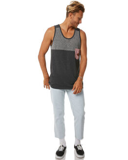 CHARCOAL MENS CLOTHING IMPERIAL MOTION SINGLETS - 201702006012CHAR