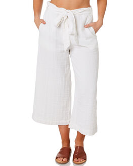 WHITE WOMENS CLOTHING RHYTHM PANTS - OCT19W-PA04-WHT