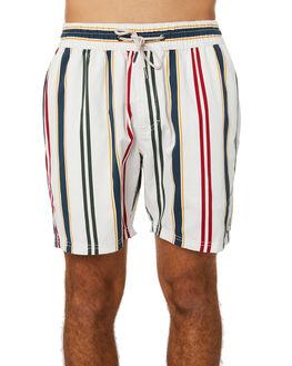WHITE VERT STRIPE MENS CLOTHING BARNEY COOLS SHORTS - 600-Q120WHIVS