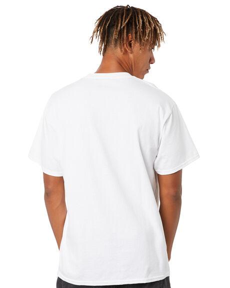 WHITE MENS CLOTHING HUF TEES - TS01608WHT