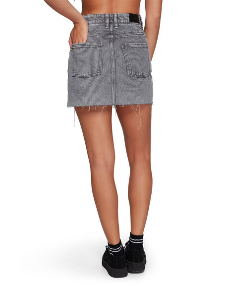 GREY STRIPE WOMENS CLOTHING RVCA SKIRTS - RV-R491833-GST