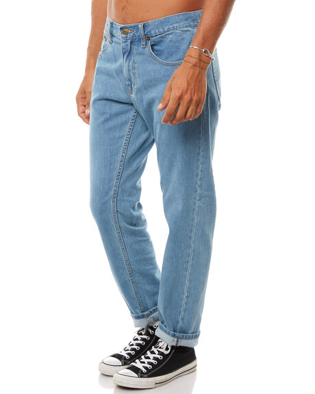 STONE BLUE MENS CLOTHING AFENDS JEANS - M181450STNBL