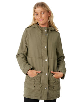 KHAKI WOMENS CLOTHING ALL ABOUT EVE JACKETS - 6414003KHAKI