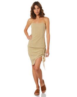 OLIVE WOMENS CLOTHING ZULU AND ZEPHYR SKIRTS - ZZ2231OLI