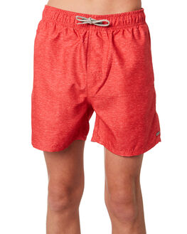 LIGHT RED KIDS BOYS RIP CURL BOARDSHORTS - KBORA18940