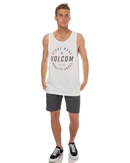 WHITE MENS CLOTHING VOLCOM SINGLETS - A4541771WHT