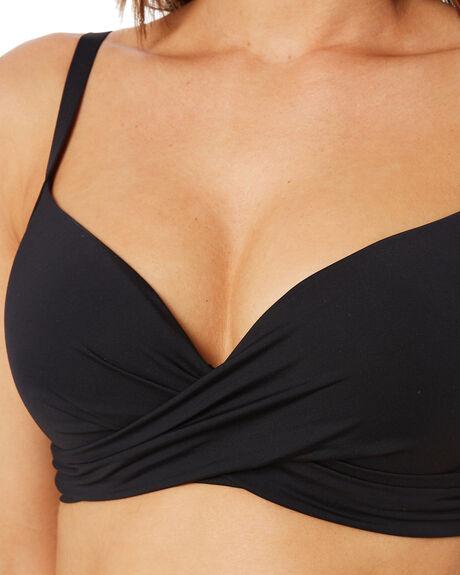 BLACK WOMENS SWIMWEAR SEA LEVEL AUSTRALIA BIKINI TOPS - SL3073PBLK