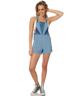 STONE BLUE WOMENS CLOTHING AFENDS PLAYSUITS + OVERALLS - 51-02-096SBLUE