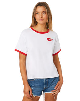 WHITE WOMENS CLOTHING LEVI'S TEES - 57427-0000WHT