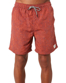 DK RED MENS CLOTHING KATIN BOARDSHORTS - TRLUS05DKRED
