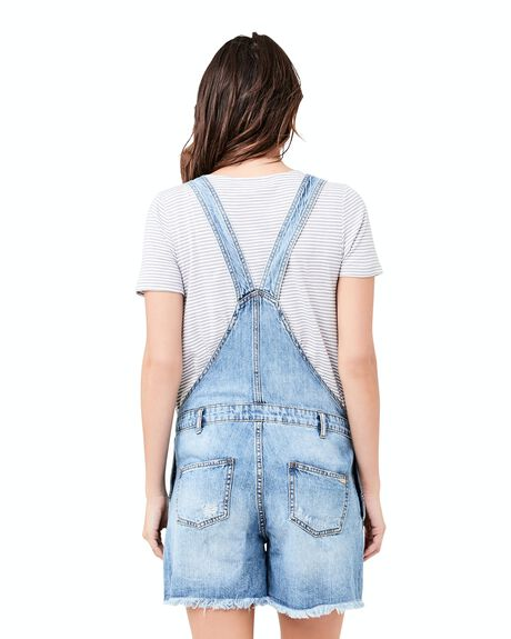 PALE BLUE WOMENS CLOTHING RIPE MATERNITY PLAYSUITS + OVERALLS - S3303-PALEBLUE-XS