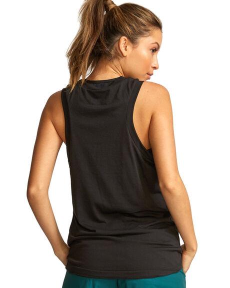 BLACK WOMENS CLOTHING RVCA ACTIVEWEAR - RV-R491893-BLK