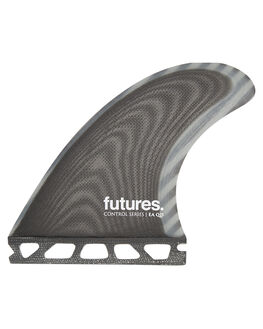 BLACK GREY BOARDSPORTS SURF FUTURE FINS FINS - QEA-020209BLKG