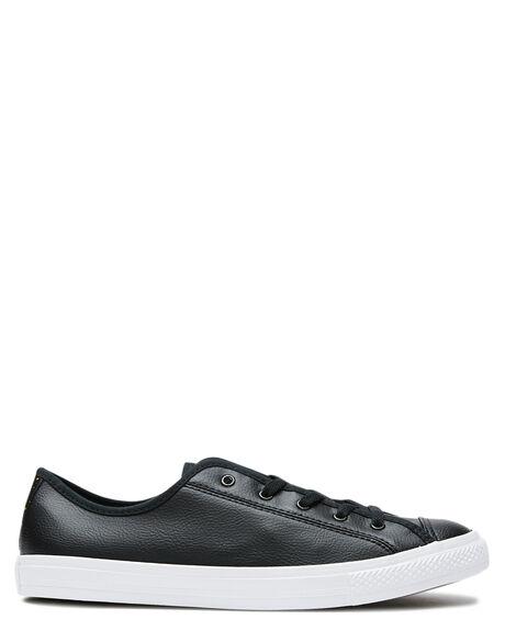 BLACK WHITE GOLD WOMENS FOOTWEAR CONVERSE SNEAKERS - 568157BWG