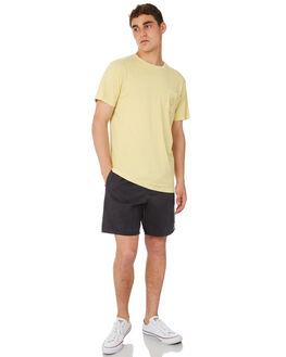 SUNBLEACHED YELLOW MENS CLOTHING RHYTHM TEES - OCT18M-PT02-YEL
