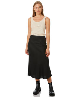 BLACK WOMENS CLOTHING THRILLS SKIRTS - WTS9-308BFBLK