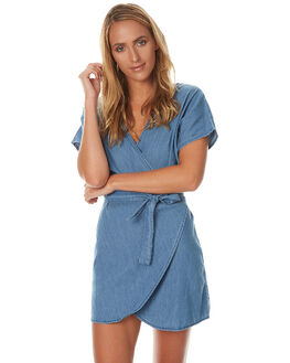 BLUE WOMENS CLOTHING LILYA DRESSES - SMUBLU