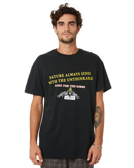 WASHED BLACK MENS CLOTHING MISFIT TEES - MT005011WSHBK