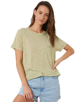 GLEAM GREEN WOMENS CLOTHING RUSTY TEES - TTL1063GLG