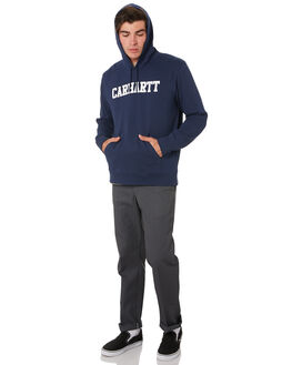 BLUE WHITE MENS CLOTHING CARHARTT JUMPERS - I02466901