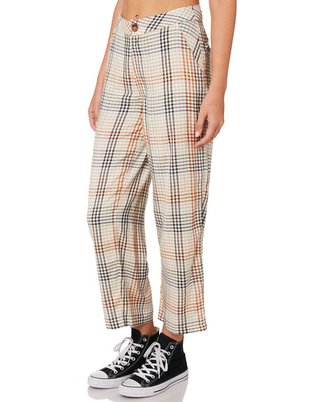 BLACK WOMENS CLOTHING RVCA PANTS - R293273BLK