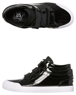 BLACK WOMENS FOOTWEAR DC SHOES HI TOPS - ADJS300200BLK