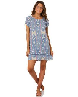 BLUE WHITE WOMENS CLOTHING RIP CURL DRESSES - GDRFW11651