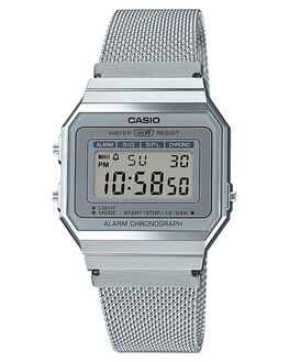 SILVER MENS ACCESSORIES CASIO WATCHES - A700WM-7ASIL