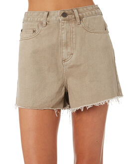 OATMEAL WASH OUTLET WOMENS THE HIDDEN WAY SHORTS - H8184236OMEAL