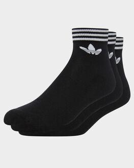 BLACK WHITE MENS CLOTHING ADIDAS SOCKS + UNDERWEAR - EE1151BLKWH