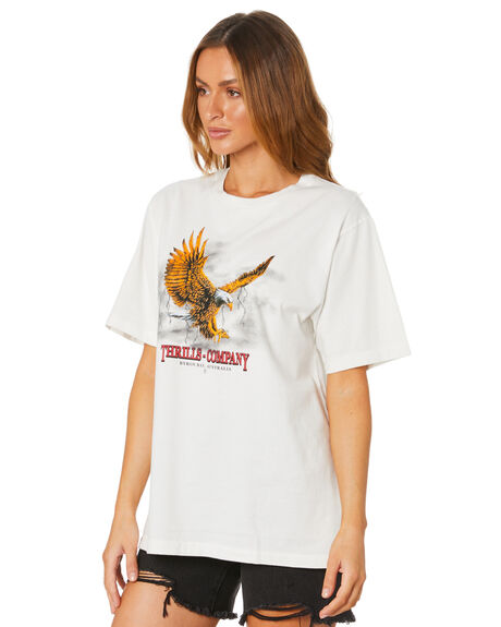 DIRTY WHITE WOMENS CLOTHING THRILLS TEES - WSMU20-132ADWHT