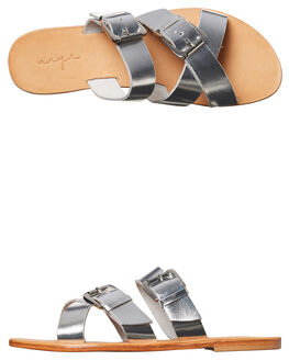 SILVER LEATHER OUTLET WOMENS URGE FASHION SANDALS - URG17060SIL
