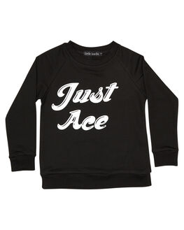BLACK KIDS TODDLER BOYS LITTLE LORDS JUMPERS - LTLJUSTACEBLK