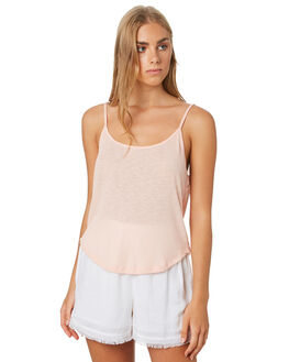SAND TEA ROSE WOMENS CLOTHING ALL ABOUT EVE SINGLETS - 6443061STR