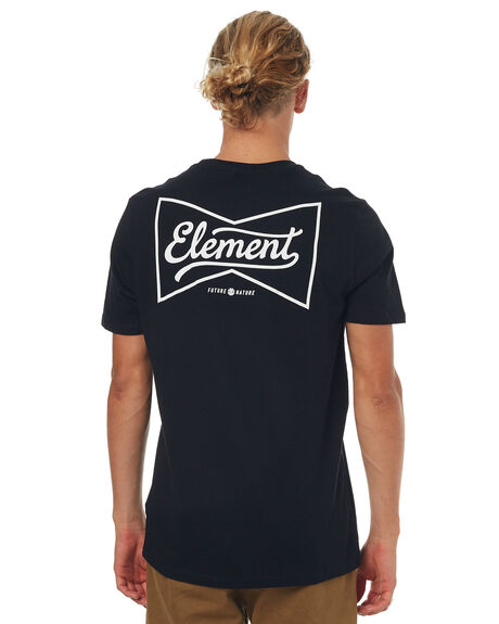 FLINT BLACK MENS CLOTHING ELEMENT TEES - 173001FBLK
