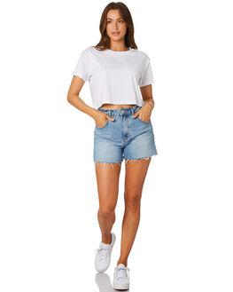 WHITE WOMENS CLOTHING AS COLOUR TEES - 4062WHT