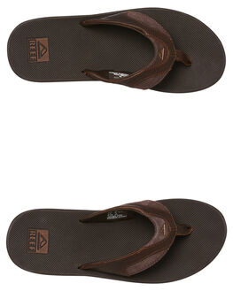 DARK BROWN MENS FOOTWEAR REEF THONGS - 2156DAB