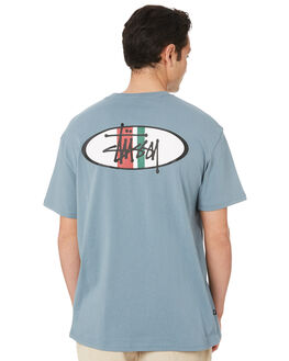 SLATE BLUE MENS CLOTHING STUSSY TEES - ST007002SLTBL