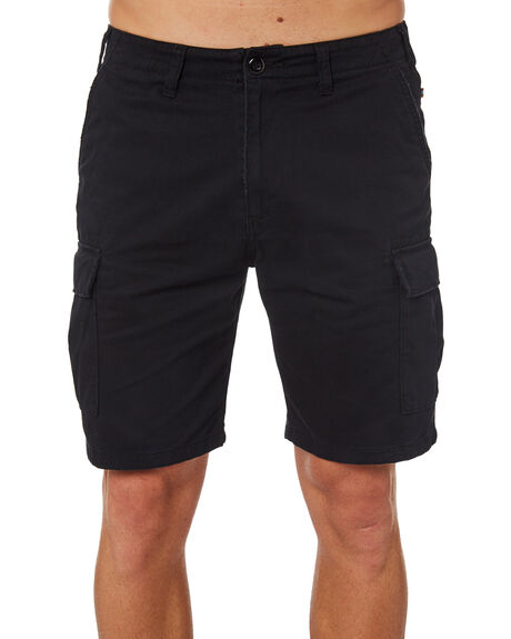 BLACK MENS CLOTHING RUSTY SHORTS - WKM0911BLK