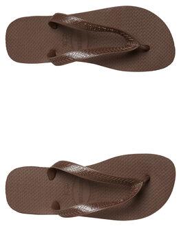 DARK BROWN WOMENS FOOTWEAR HAVAIANAS THONGS - 40000290727
