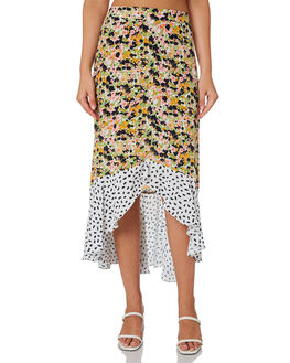 MONET FLORAL POLKA WOMENS CLOTHING RUE STIIC SKIRTS - SA-20-33-1MLPIM
