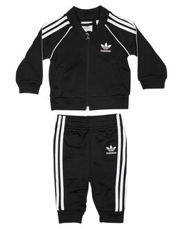 BLACK WHITE KIDS TODDLER BOYS ADIDAS ORIGINALS JACKETS - CE1977BLKWH