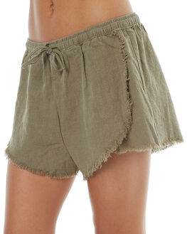 SAGE WOMENS CLOTHING RUSTY SHORTS - WKL0629SAG