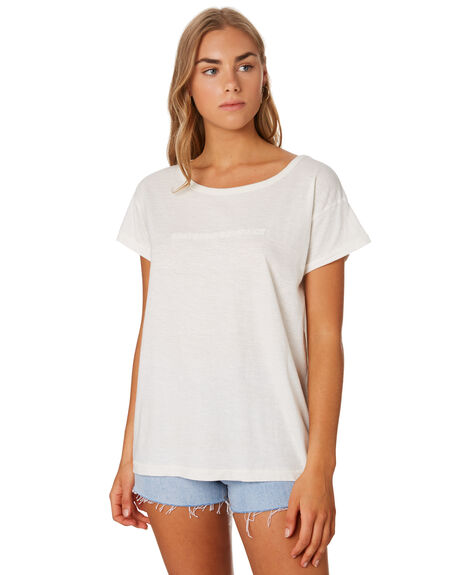 DIRTY WHITE WOMENS CLOTHING THRILLS TEES - WTS9-116AWHI